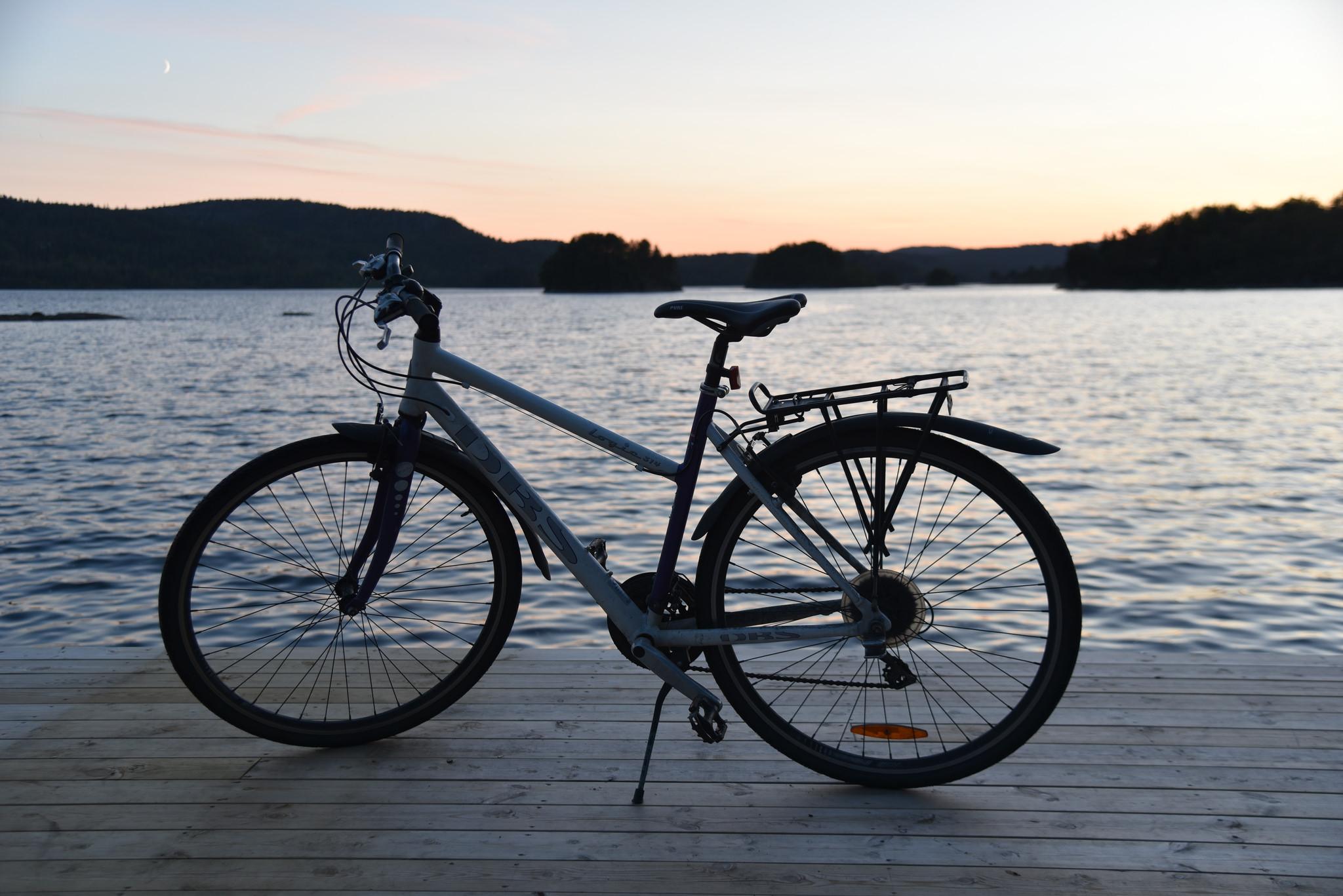 Ta med deg sykkelen på Gautestad og nyt naturen fra sykkelsetet.
