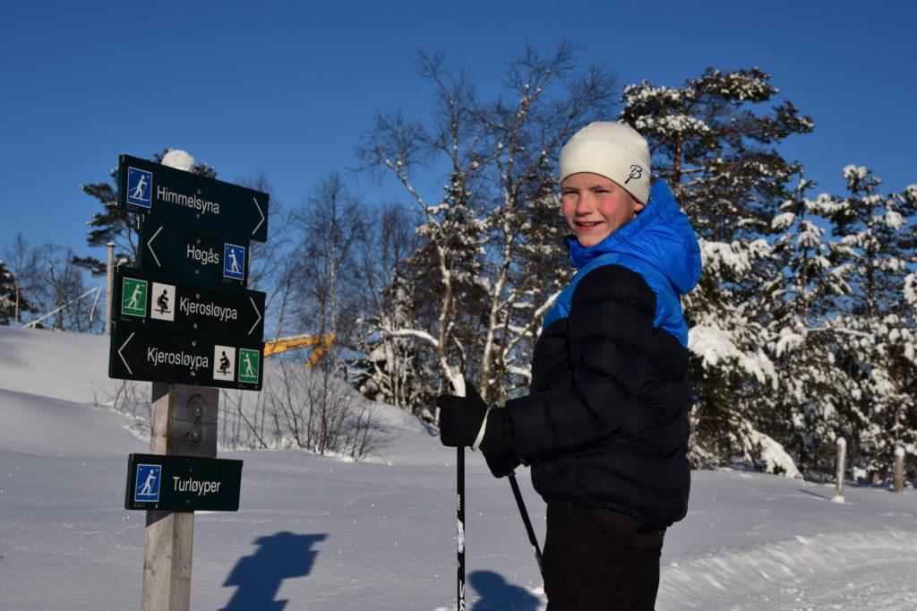 Skiløypene på Gautestad er perfekte for opplæring av de minste.