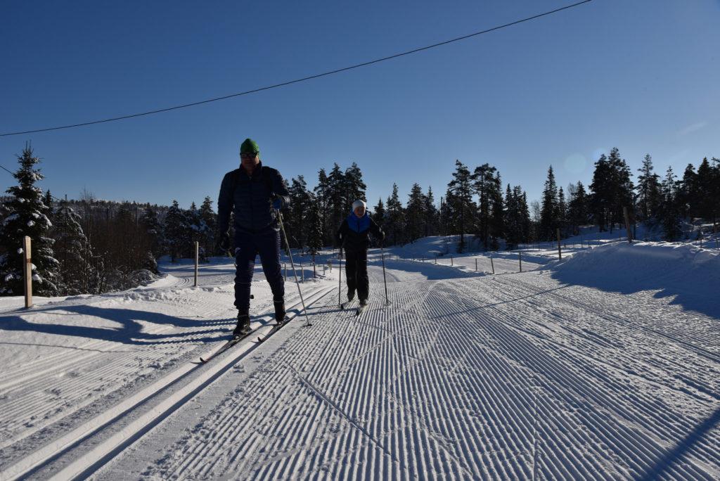 Langrennsløyper på Gautestad og Høgås.