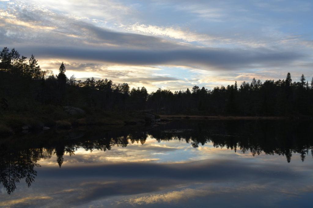 Solnedgang ved Botntjørna